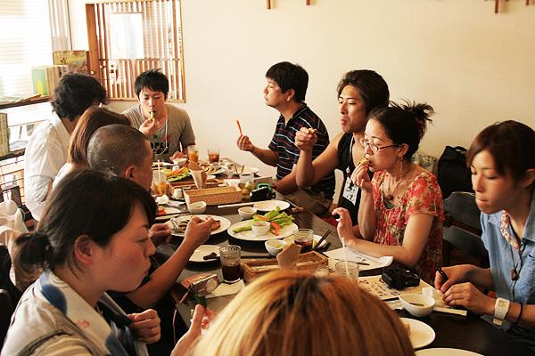 カフェortaのにんにくランチコース【ニンニク短期留学2011】