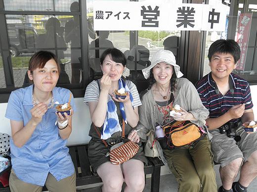 農アイス美味しい〜【ニンニク短期留学2011】