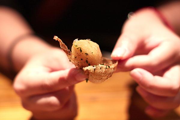ジャガイモと新ニンニクのフリット